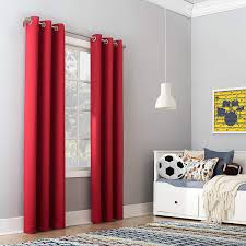 Amazon Com Sun Zero Riley Kids Bedroom Blackout Grommet Curtain Panel 40 X 84 Red Home Kitchen
