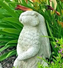 large concrete bunny rabbit animal