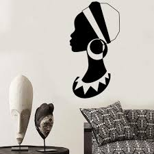 African Woman Wall Decal Big Earring Girls Bedroom Beauty Salon Decor Window Vinyl Stickers Mural Art Wl1658 Wall Stickers Aliexpress