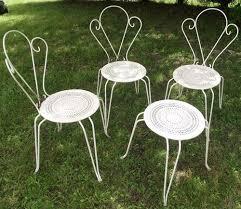 vintage swirly french garden chairs
