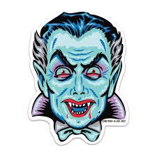 Crypt Vampire Vinyl Sticker Retro A Go Go