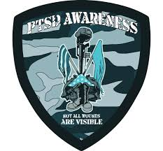 Car Magnet Ptsd Awareness Shield Customizable Design