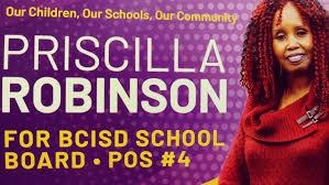 ELECT Priscilla Robinson BCISD Position 4 - About | Facebook