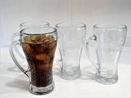 coca cola glass cup drinking jar shot