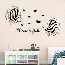 Kissing Fish Wall Art Mural Poster Decor Home Art Wall Decal Sticker Bathroom Bedroom Decoration Wallpaper Wall Decals For Adults Wall Decals For Bedroom From Magicforwall 1 67 Dhgate Com
