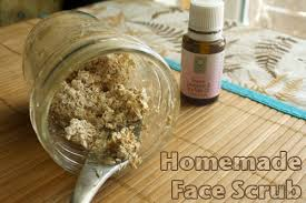 homemade oatmeal face scrub