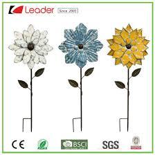 decorative metal flower garden stake