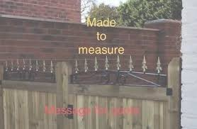 Wrought Iron Security Spikes Wall Fence Gate Toppers From 15 Ft Powdercoated Ebay
