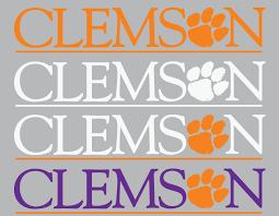 Clemson Wordmark Decal Clemson Tigers Clemson Clemson Tigers Wallpaper