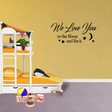 Wall Decal Quote We Love You To The Moon And Back Vinyl Sticker Love Wall Decor Pc689 Walmart Com Walmart Com