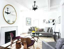 large round living room mirrors