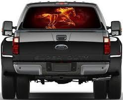 Flaming Horse Burning Flame Rear Window Graphic Decal Truck Suv Van Car Ebay