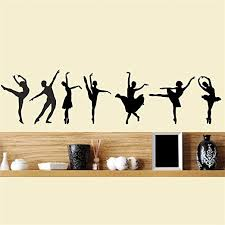 Amazon Com Ballet Dancer Decal Set Of 7 Ballerina Dancing Wall Decal Sticker Vinyl Music Theme Girl Room Bedroom Made In Usa Kitchen Dining
