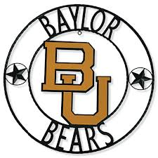 Baylor Bears 18 Round Collegiate Sign