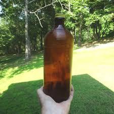 vintage amber bottles on wanelo