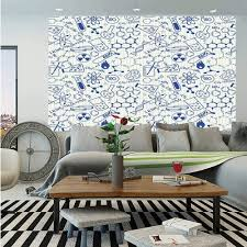 Amazon Com Sosung Kids Decor Huge Photo Wall Mural Science Chemistry Geometry Math Nerd Geek Genius Themed Design Artwork Self Adhesive Large Wallpaper For Home Decor 108x152 Inches Navy Blue And White Home Kitchen