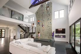This Family Put A 26 Foot Rock Climbing Wall In Their Living Room