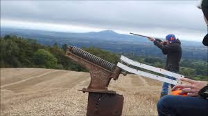 the homemade clay pigeon shooter you