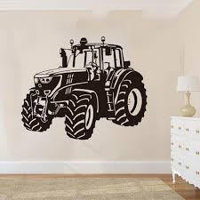 Large Farm Driving Sticker Nursery Kids Room Cartoon Tractor Truck Car Vehicle Wall Decal Playroom Vinyl Decor Y200103 Home Wall Stickers Horse Wall Decals From Shanye10 10 48 Dhgate Com