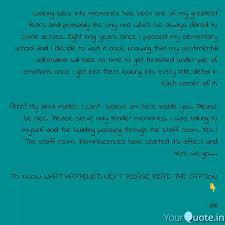 looking back into memorie quotes writings by pragya