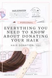 donating your hair 101 where and how