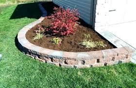 edging landscape patio flower bed