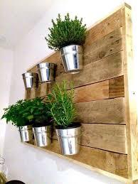 diy pallet vertical herb garden