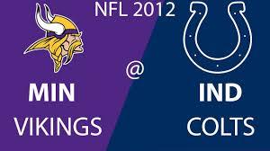 Minnesota Vikings vs Indianapolis Colts ...