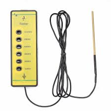 Uk Portable Electric Fence Voltage Tester Farm Rails Poly Wire Ribbon Rope