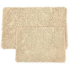 memory form bath rug set