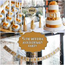 25th and 50th anniversary party ideas