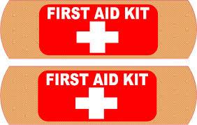 Stickertalk Bandage First Aid Kit Vinyl Stickers 5 Inches X 1 5 Inches Stickertalk