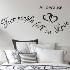 All Because Two People Fell In Love Wall Art Decal For Home