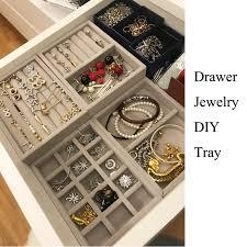 new drawer diy jewelry storage tray