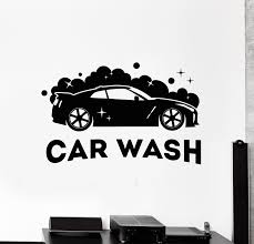Vinyl Wall Decal Auto Car Wash Cleaning Service Garage Art Stickers Mu Wallstickers4you