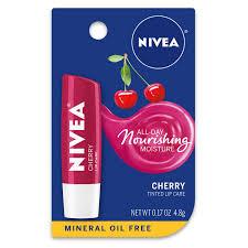 nivea cherry lip care 0 17 oz carded
