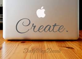Create Vinyl Decal Macbook Decal Laptop Sticker Choose Size Color Vinyl Sticker Create Car Decal Vinyl Skins Lettering Decal