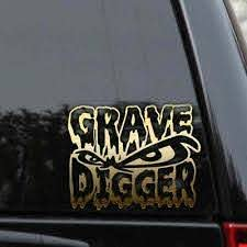 Grave Digger Decal Sticker Monster Truck 4x4 Off Road Lifted Car Window Laptop Ebay