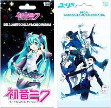Amazon Com Japanese Anime Decal Stickers For Girls Boys Kids Teens Bundle Pack Of 2 Premium Anime Sticker Decals For Car Water Bottle Walls Featuring Hatsune Miku And Yuri On Ice Anime