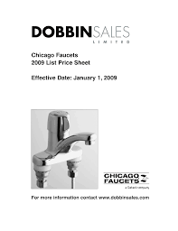 chicago faucets 2009 list sheet
