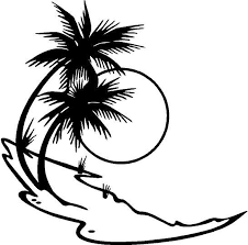 Palm Tree Vinyl Decal Car Truck Boat Window Sticker Black And White Stickers Palm Trees Car Decals Vinyl