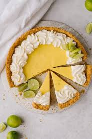 key lime pie with homemade graham