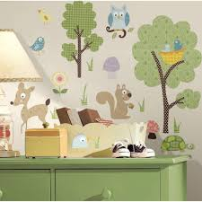 Roommates 10 In X 18 In Woodland Animals 89 Piece Peel And Stick Wall Decals Rmk1398scs The Home Depot