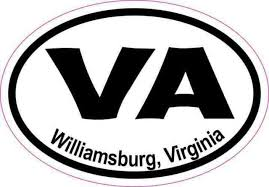 3in X 2in Oval Va Williamsburg Virginia Sticker Vinyl Car Decal Stickers For Sale Online Ebay