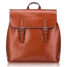 genuine leather backpack travelling