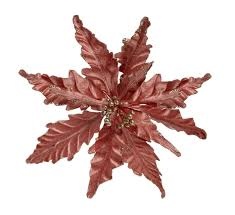 rose gold flower christmas decorations