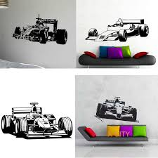 29 Designs Sport Car Racing Speed Fast F1 Wall Art Sticker Die Cut Vinyl Decal Home Bedroom Decor Mural Bedroom Decor Vinyl Decaldecoration Murale Aliexpress