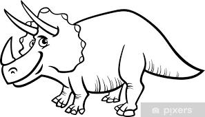 Fotobehang Triceratops Dinosaurus Kleurplaat Pixers We Leven