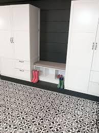a basement floor makeover using a tile