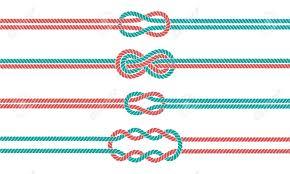Separadores De Nudo De Cuerda De Marinero Y Bordes Establecidos